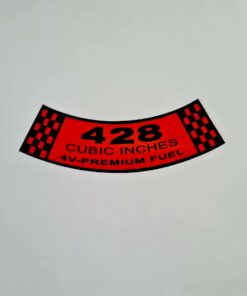 428-4V PREMIUM AIR CLEANER DECAL