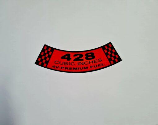 428-4V PREMIUM AIR CLEANER DECAL